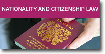 Nationality and citizen ship law advice from Rafiq and co