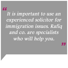 Rafiq and co immigration solicitors